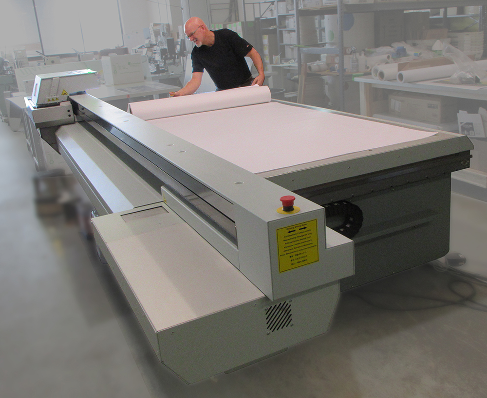 Large format printing on the Océ Arizona 1200 Series Large Format UV Flatbed Printer